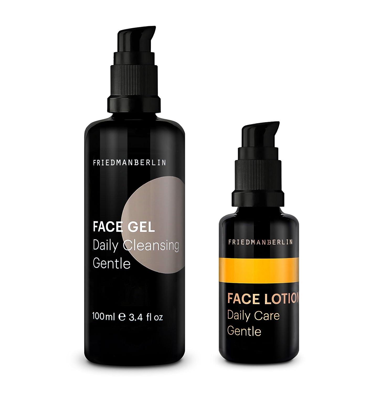 Pflegeset für Männer - FRIEDMANBERLIN | Reinigungsgel (100ml) und Gesichtscreme für Herren (30ml) | Gesichtsreinigung & Gesichtspflege | 2er Set F.A.S. Care