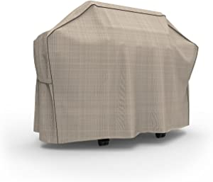 """Budge P8006PM1 English Garden BBQ Grill Cover Heavy Duty and Waterproof, 70"""" Wide, Tan Tweed"""