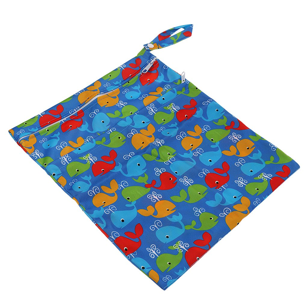 Sharplace Washable Reusable Cloth Nappy Wet Bag//Waterproof Swim Sport Travel Carry bag as described Style 6