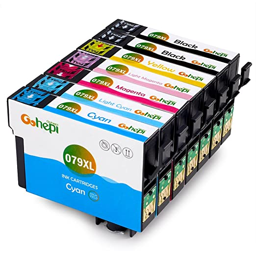 16 opinioni per Gohepi T079XL Compatibile per Cartucce Epson T079 T0791 T0792 T0793 T0794 T0795