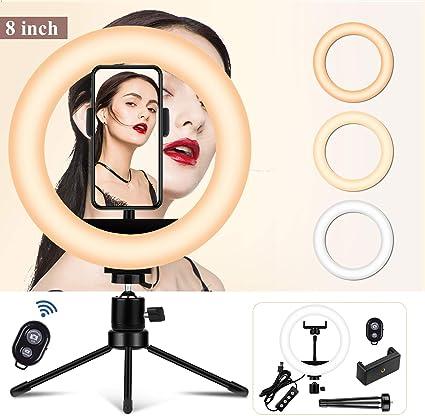 Make Up Ring Licht 20 3 Cm Mit Stativ Und Kamera