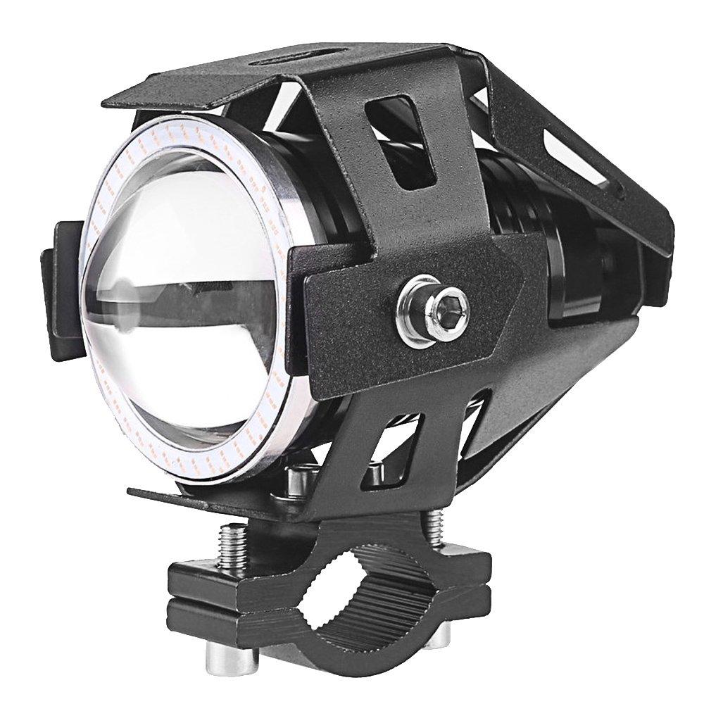 2 Pcs 125W Conduit de Moto LED Phare Projecteur Feu Antibrouillard avec Contrô leur Vococal P201610250058