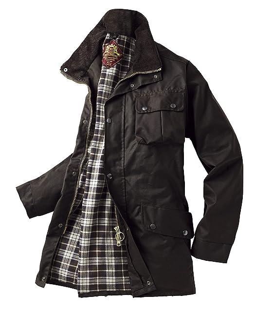Royal Spencer texto Original en inglés chaqueta de cera, para hombre, de color marrón, talla S-XXXL: Amazon.es: Ropa y accesorios
