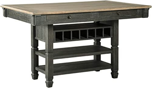 Signature Design By Ashley – Tyler Creek Dining Room Table – Counter Height – Black Gray