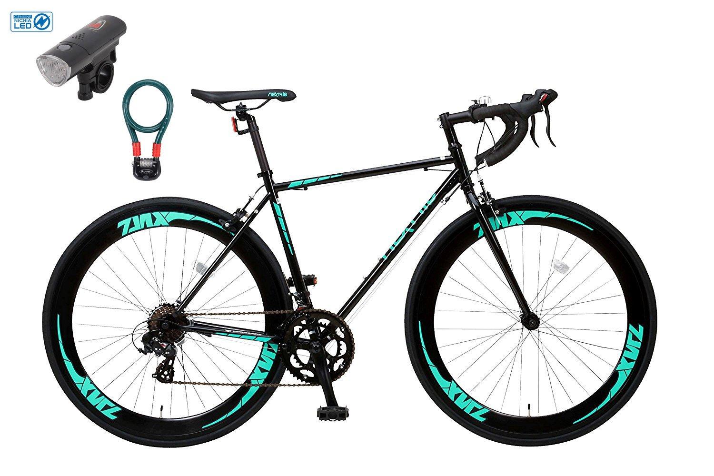 【カーブランド ローバー フロントライトカギSET】 NEXTYLE(ネクスタイル) ZNX-7014(ブラック) SHIMANO(シマノ) ロードバイク ロードレーサー 男女兼用(初心者対応 身長168cm以上 サイズ490mm)14段変速 B01MYRR0IO