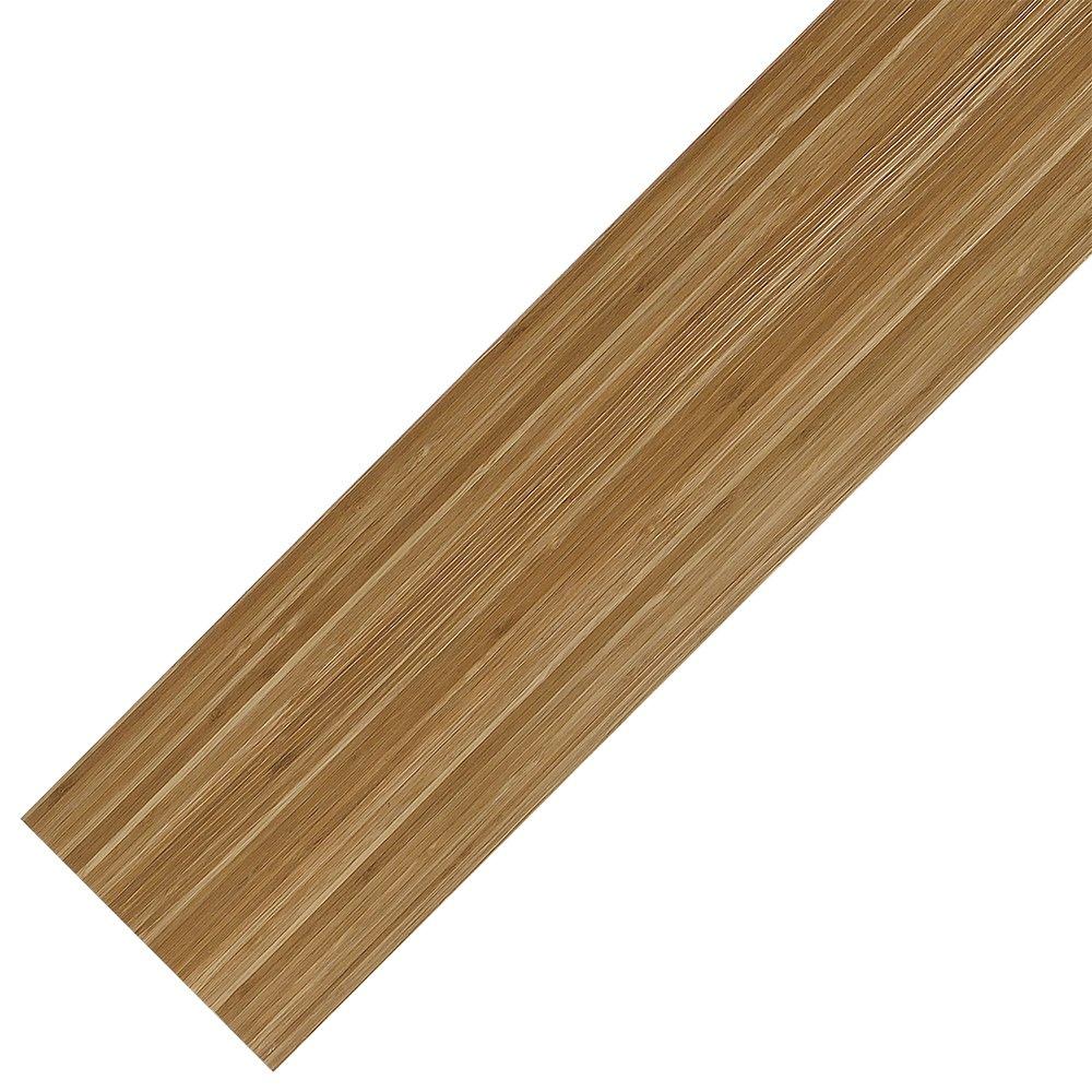 [neu.haus] Suelo de vinilo PVC - 0.975 m2 - autoadhesivo - bambú mate - planchas / tablas [neu.holz]