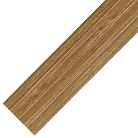 [neu.haus] Vinyl-PVC Design Bodenbelag 0.976qm selbstklebend Bambus matt  Laminat Dielen
