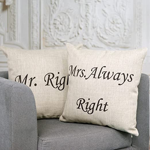 18 x 45,72 cm Ojia de pareja decorativa para cojín, Señor y ...