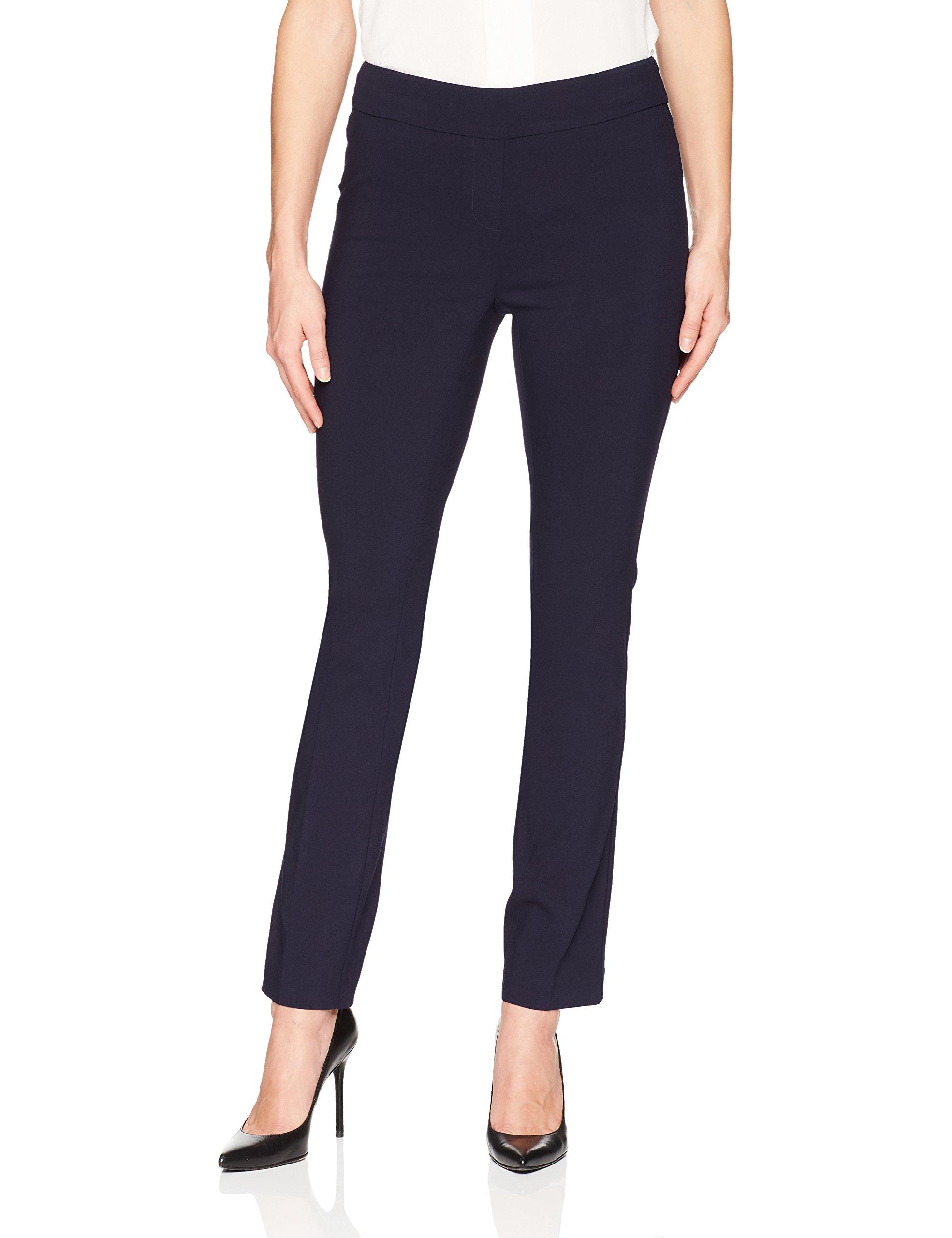 Lark & Ro Women's Slim Leg Stretch Pant: Comfort Fit, Navy, 12