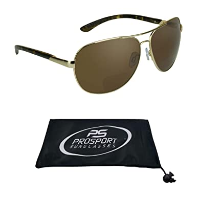 53027974e7 proSPORT Aviator Polarized Bifocal Sunglasses for Men Women Unisex. Nearly  Invisible Magnification reader Line.