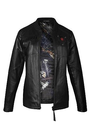 Musterbrand Star Wars Women Ladies Leather Jacket Tie Pilot Limited