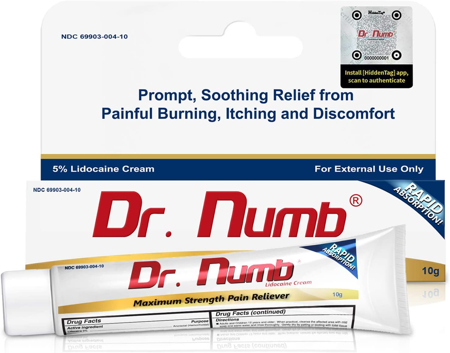 Amazon.com: 1 Tube of Dr. Numb Maximum Topical Anesthetic ...