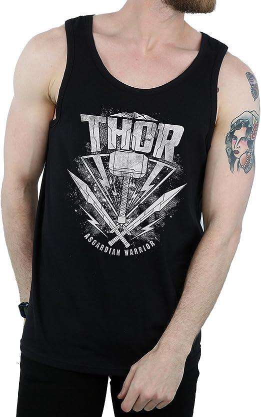 Marvel Hombre Thor Ragnarok Hammer Logo Camiseta Sin Mangas ...