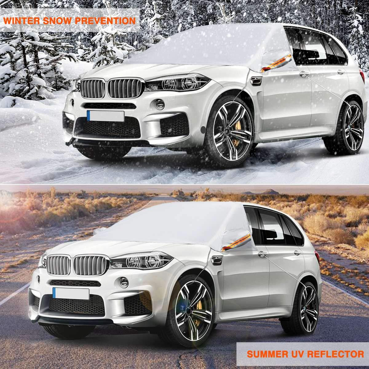 Windshield Cover for ice and Snow with 3 Layer Protection,Snow Car Window Snow Cover Fits All Cars Ice SUV and UV All-Weather Protection Meddom Car Windshield Cover Frost,Scratch