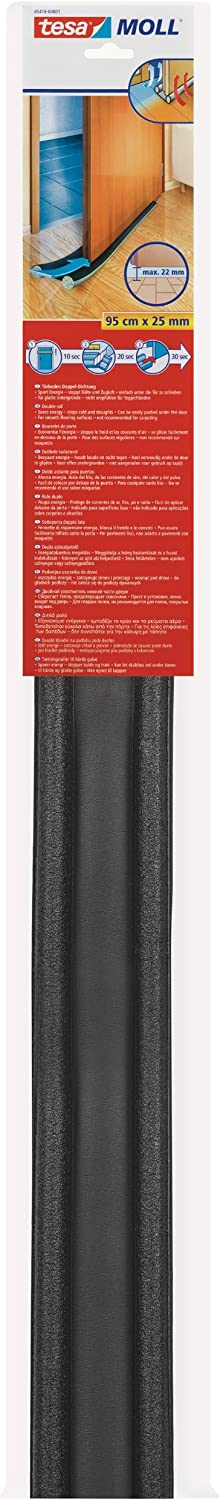 Tesa 05418-00001-02 - Doble rollo aislante (95 cm x 25 mm) color gris