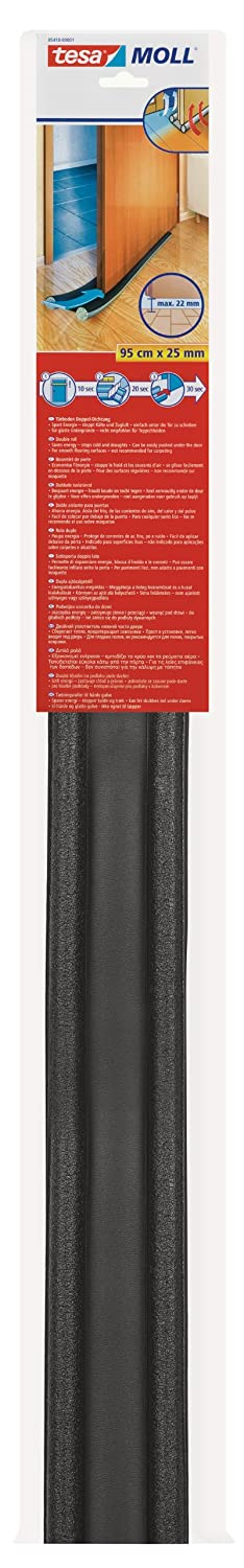 tesa UK Under Door to Floor Draught Excluder, 95 cm x 25 mm 05418-00001-02