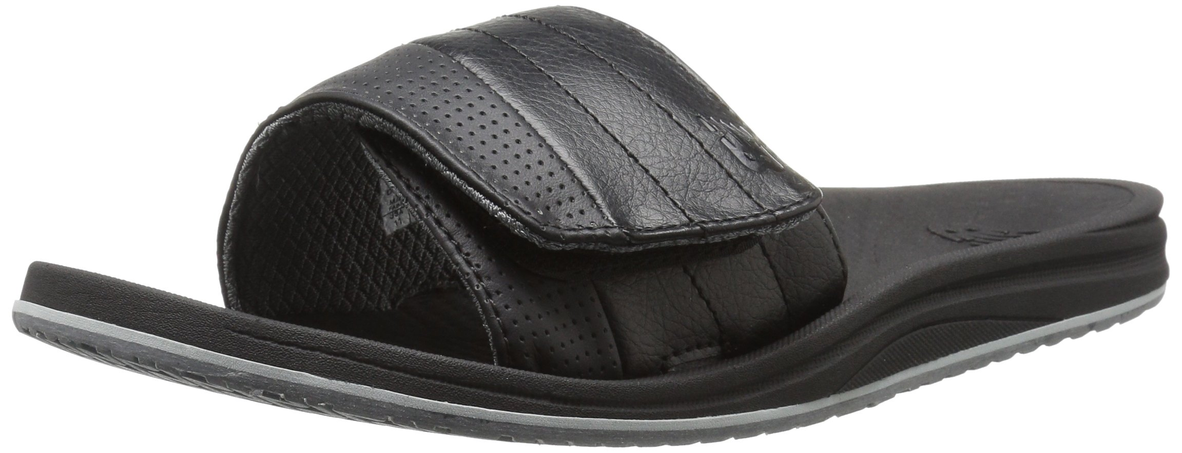 New Balance Men's Recharge Slide Sandal, Black/Grey, 11 4E US