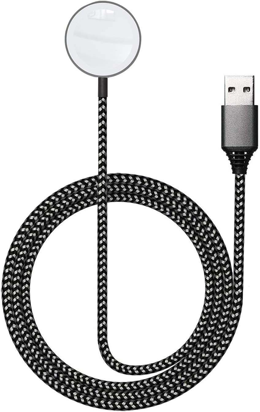 ASIANE Watch Charger,Magnetic Wireless Portable Charger,iWatch Nylon Braided Charging Cable Cord Compatible for Apple Watch Series 5 4 3 2 1 All 44mm 40mm 42mm 38mm