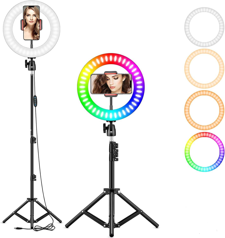 25 4 Cm Rgb Selfie Ringlicht Led Ringlicht 3200 6500 Kamera