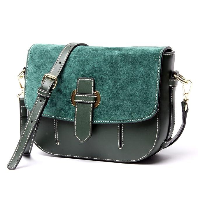 860b08ba35 Genuine Leather Opaca Vintage Scopare Pouch Singola Spalla Crossbody Bag  Per Le Donne