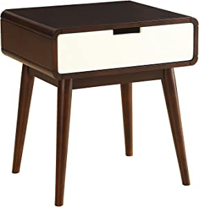 ACME Furniture 82852 Christa End Table, Espresso & White, One Size