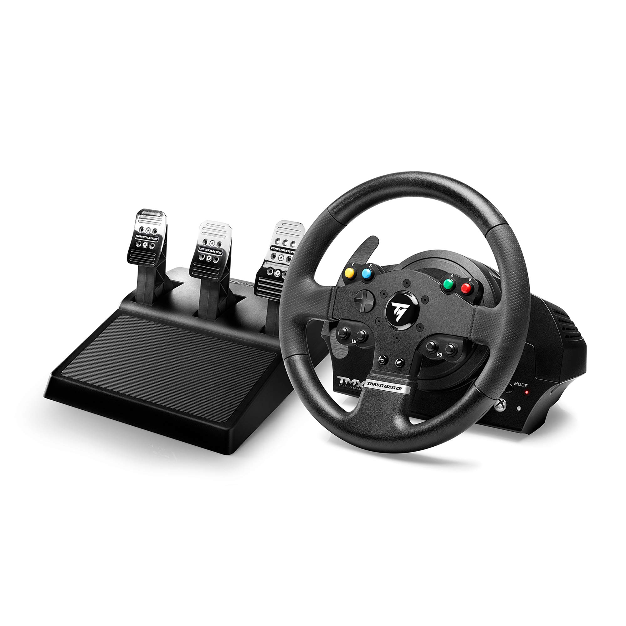 Thrustmaster TMX PRO: Ergonomic racing wheel featuring 3-pedal set with metal pedal heads - Compatible with Xbox One and PC, Works on Xbox Series X|S - UK Version