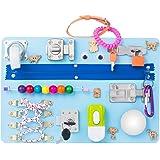 Montessori busyboard Busy Board- Sensory Board - Study Board -Wood Board - Activity Board Locks and latches Activity Board -
