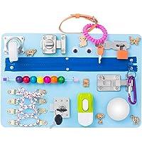 Montessori busyboard Busy Board- Sensory Board - Study Board -Wood Board - Activity Board Locks and latches Activity…