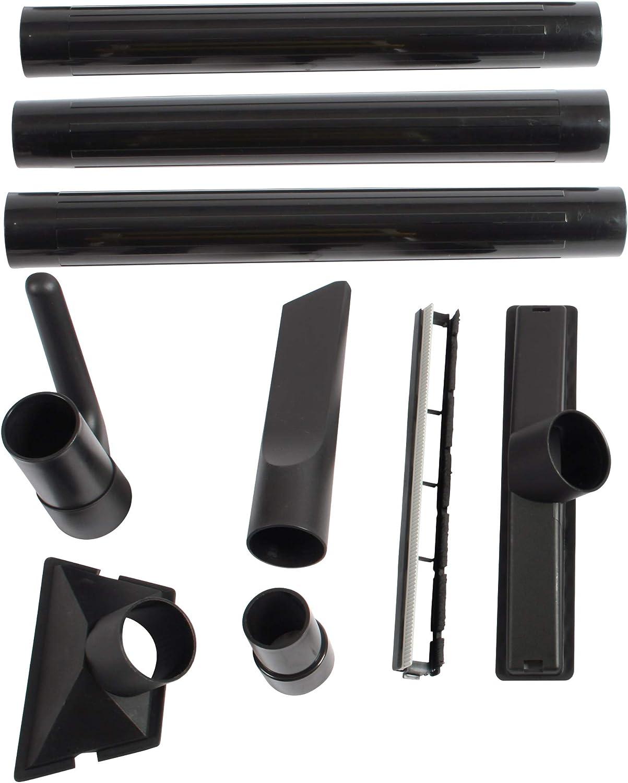 "Cen-Tec Systems 95633 2.5"" Diameter Multi-Brand Wet/Dry Vacuum Attachment Kit, Black"