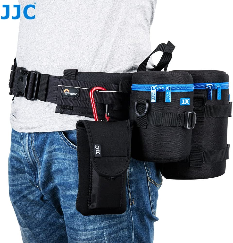 JJC DLP-2II Water Resistant Small Lens Pouch w//Shoulder Strap fit up to 80x152mm