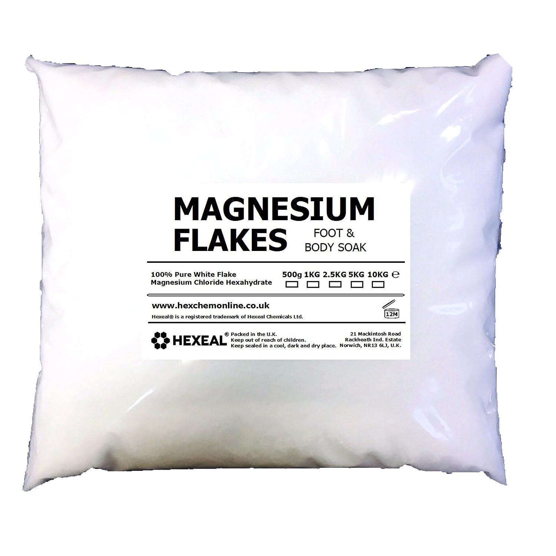 MAGNESIUM FLAKES | 5KG BAG | 100% Pure | Bath Soak | Magnesium Chloride Hexeal
