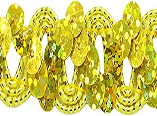 Jacky RIC Rac Sequin Trim Gold
