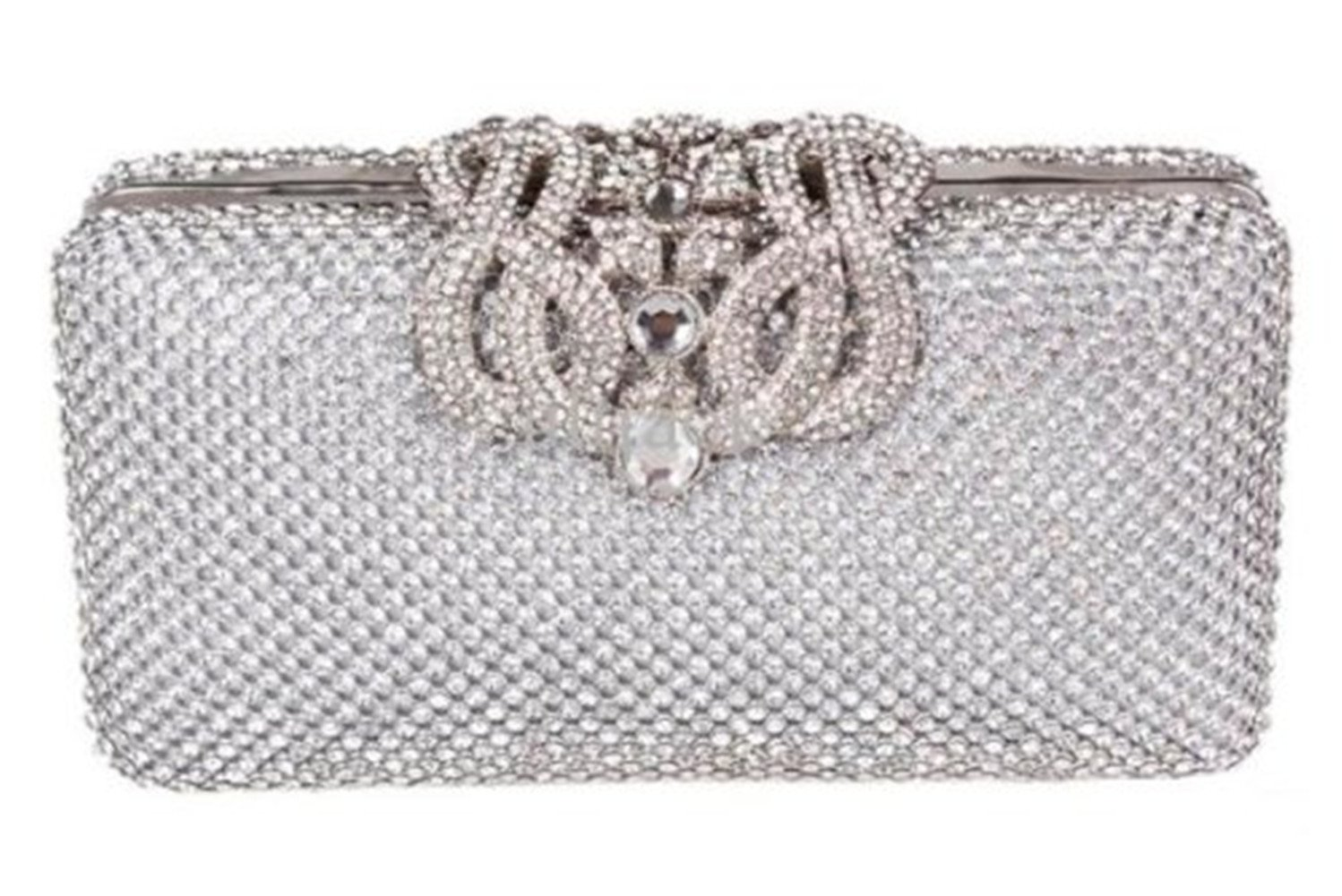 8614a26dd1 High Quality Dazzling Silver Diamante Encrusted Evening bag Clutch Purse  Party Bridal Prom: Amazon.co.uk: Luggage