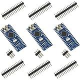 Keywish Nano V3.0 für Arduino Entwicklerboard ATmega328P Moudle Nano Board CH340 Chip mit USB Kabel kompatibel with Arduino Nano V3.0 (3er Nano Board Set & 1er Kabel)