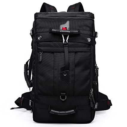3d9b530e0d KAKA Oxford Backpack 50L Big Bag Outdoor Hiking Carry on Traveling Tactical  Climbing Mountaineering Knapsack Camping