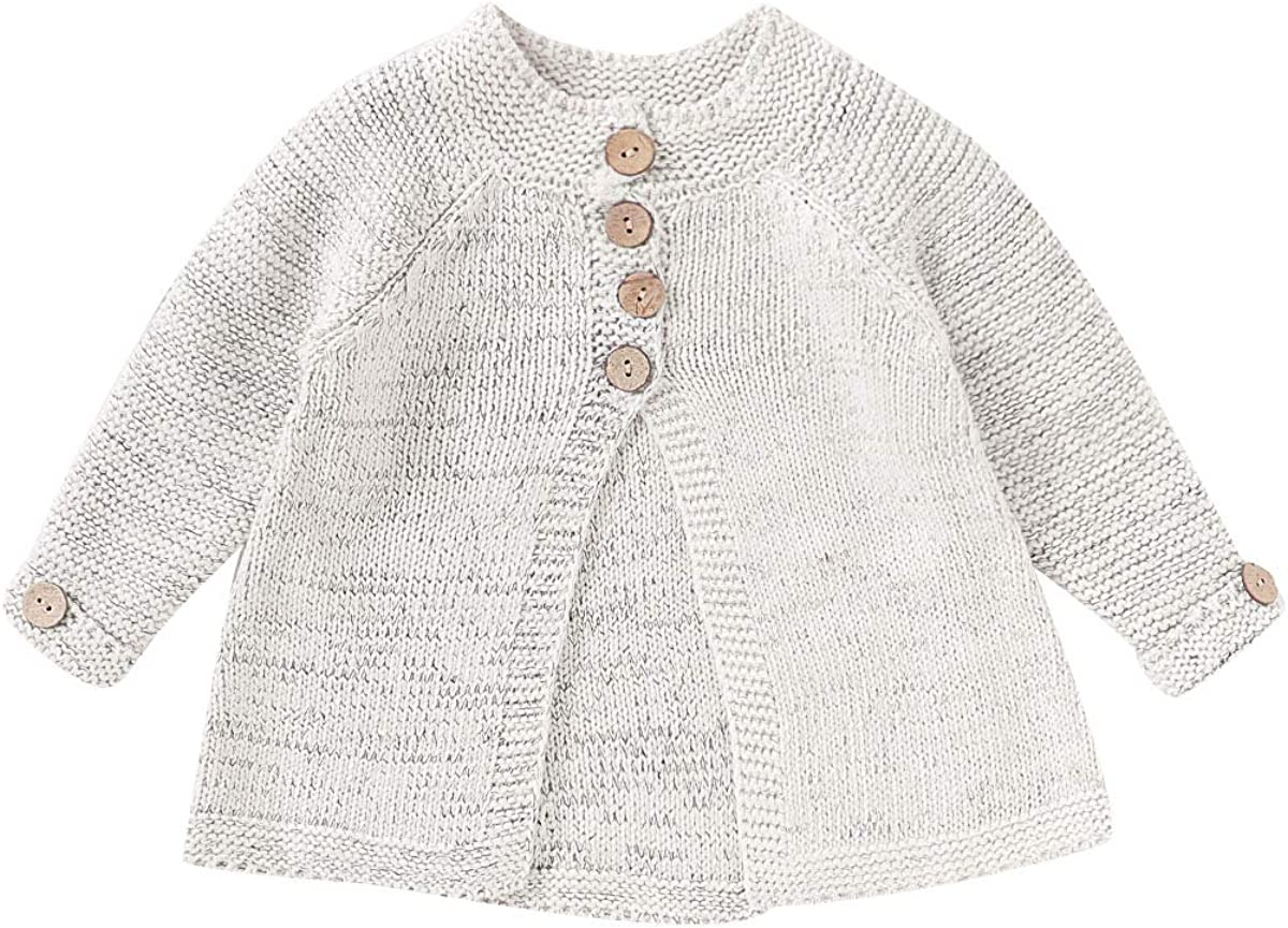 Toddler Baby Girls Coats Fall Winter Kid Baby Girl Cloak Button Jacket Knitted Sweater Cardigan Baby Outwear Clothes