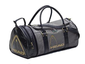 FunkyTravelbags Head Monte Carlo Ladies Mens Gym Sports Bag Travel Holdall Black Grey