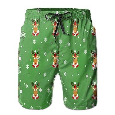 ce6df66dd3 guolinadeou Cattle Christmas Quick Dry Mens Surf Beachwear Board Shorts  Swim Trunks Medium White: Amazon.co.uk: Clothing