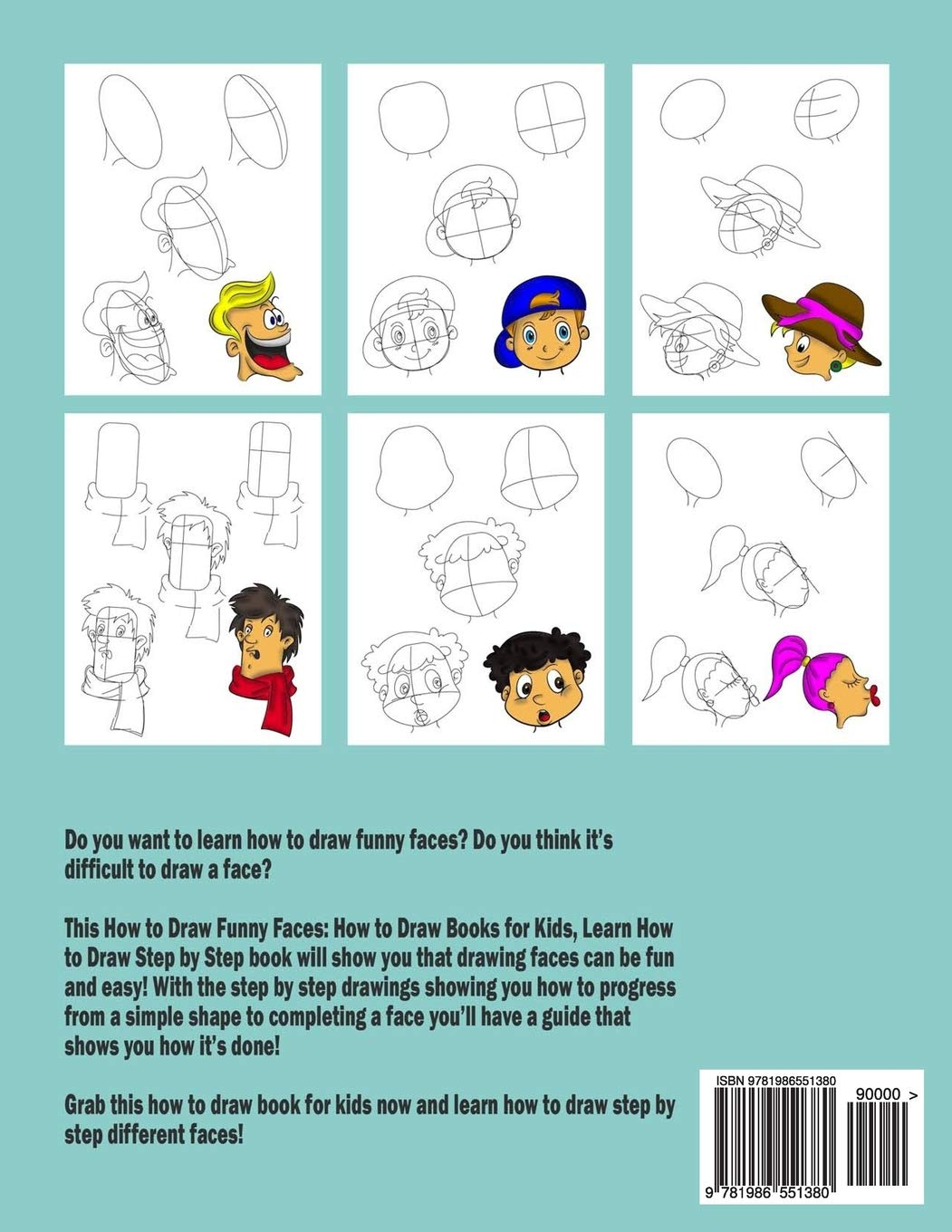How To Draw Funny Faces How To Draw Books For Kids Learn How To