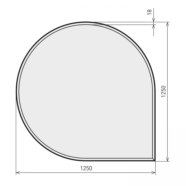 Raik B40007 B40007 B40007 Kamin Glasplatte Tropfen 2 inkl. Facette 3b4ccf