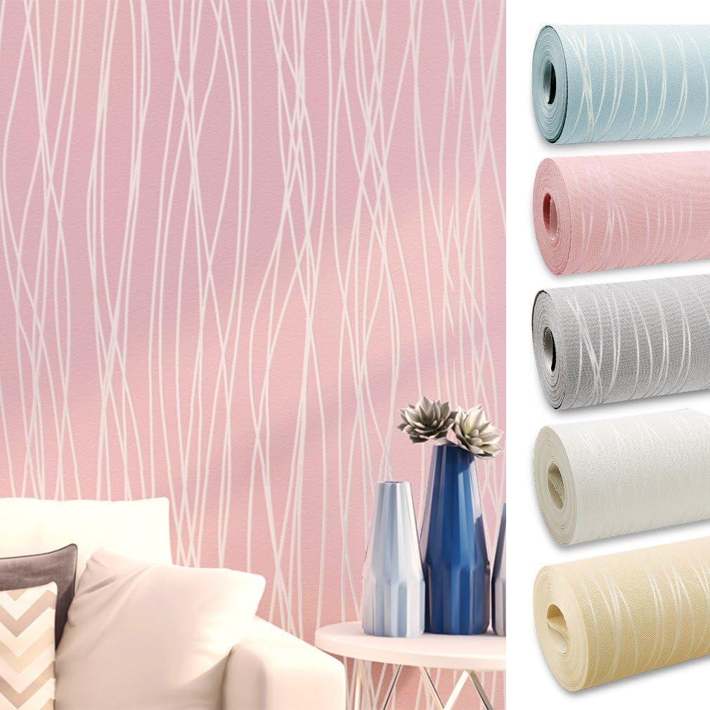 4 Murs 3d Papier Peint Intisse Decoration Pour Tv Mural Salon Chambre Et Hotel Rose Amazon Fr Bricolage