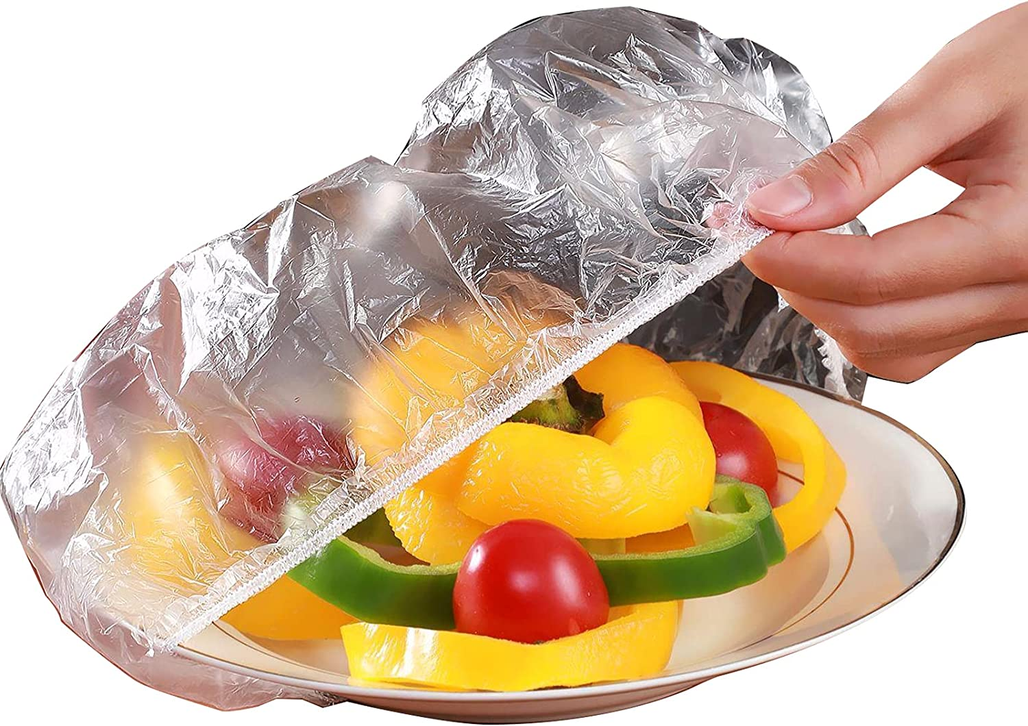 Elastic Bowl Covers, 120PCS Large FoodCovers, Disposable Dish Covers for Leftover Outdoor Family Picnic