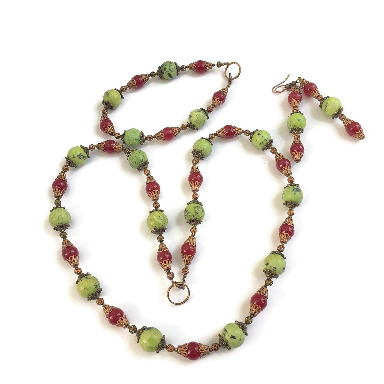 Red Jewelry Set Red Stone Jewelry Set Red Earrings Red Jade Jewelry Set Red Necklace,Red Jade Necklace,Red Stone Jewelry For Woman