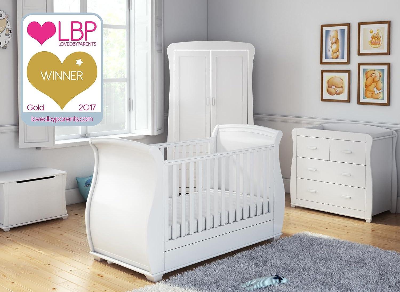 Babymore Bel 5 Piece Room Set - White BELRS5