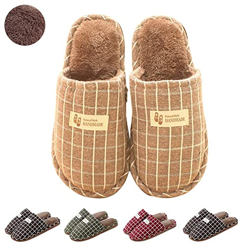 e0e0cb779cd6 Womens Warm Fur Lined Plush House Slipper Slip On Memory Foam Cotton Clog  Slippers Indoor Outdoor