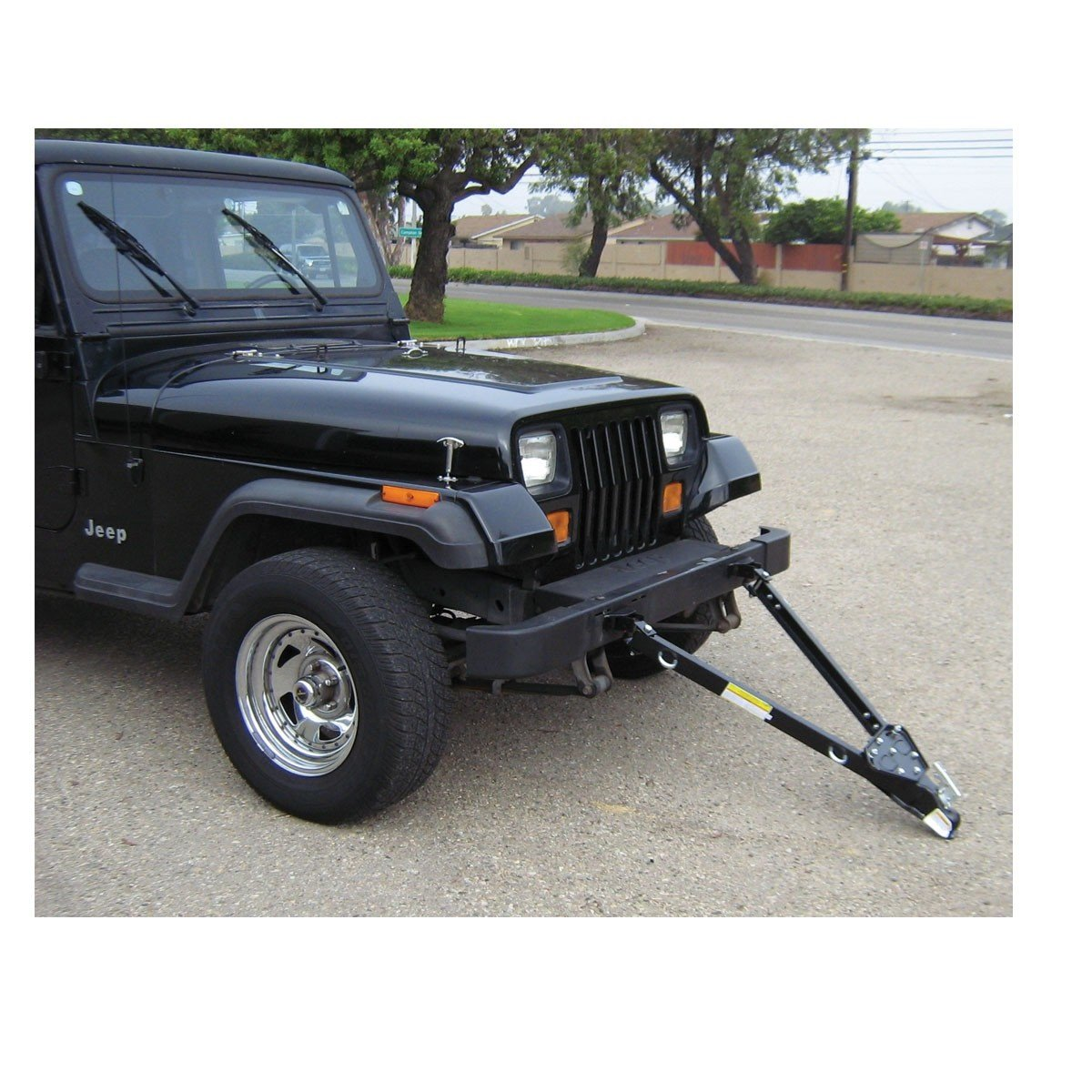 New Quality Folding 5,000 lb. Capacity Adjustable Tow Bar with Coupler Parking Towing Pulling Car Boat Trailer 43 in. Extender