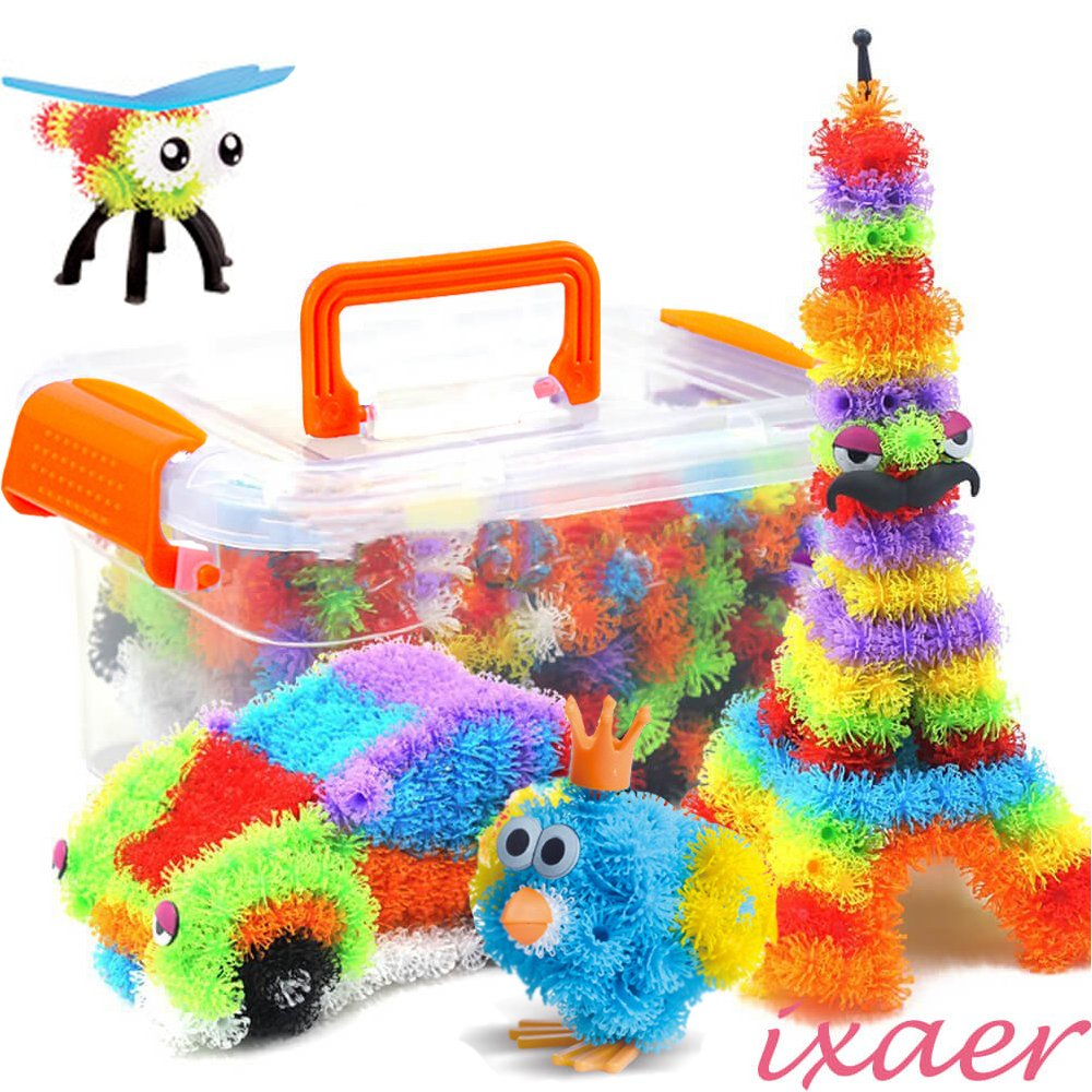 ixaer Puff Balls, 3D Puzzle Toys/Mega Pack Creative Random Model for Kids/ Increase Capacity to Create and Imagine - 400 Pieces.
