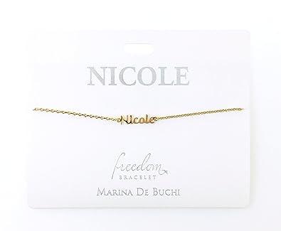 afccc7102c8b Personalizado Nombre pulseras de cadena chapado en oro - -Nicole   Amazon.es  Joyería