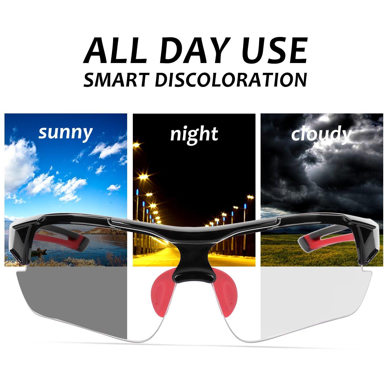 13c5752bf2 ... Cycling Glasses WHEEL UP Photochromic Anti-UV400 Explosion-proof PC  Intelligence Lenses Aerodynamics MTB ...