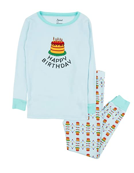 4da81e37e Amazon.com  Leveret Kids Pajamas Boys Girls Hearts Birthday 2 Piece ...